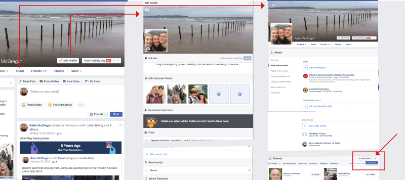 Facebook privacy - edit profile