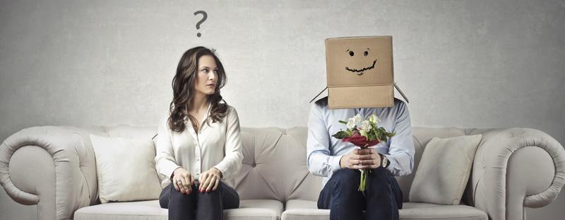 Privacy - man on sofa with head hidden